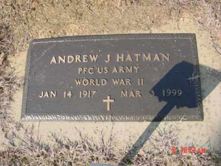 HATMAN  (VETERAN WWII), ANDREW J - Izard County, Arkansas | ANDREW J HATMAN  (VETERAN WWII) - Arkansas Gravestone Photos