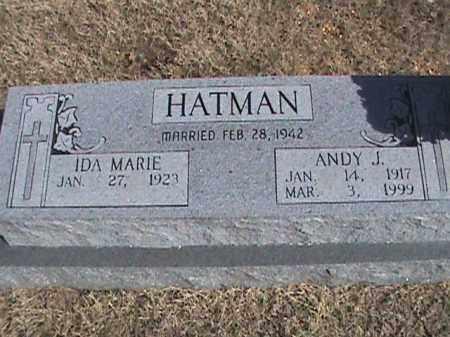 HATMAN, ANDY J. - Izard County, Arkansas   ANDY J. HATMAN - Arkansas Gravestone Photos