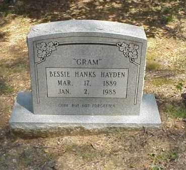 HANKS HAYDEN, BESSIE - Izard County, Arkansas | BESSIE HANKS HAYDEN - Arkansas Gravestone Photos