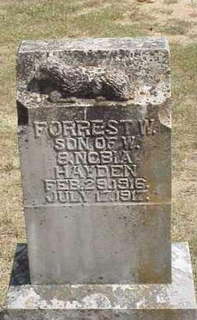 HAYDEN, FORREST W. - Izard County, Arkansas   FORREST W. HAYDEN - Arkansas Gravestone Photos