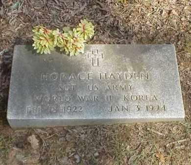 HAYDEN  (VETERAN 2 WARS), HORACE HANCEL - Izard County, Arkansas   HORACE HANCEL HAYDEN  (VETERAN 2 WARS) - Arkansas Gravestone Photos