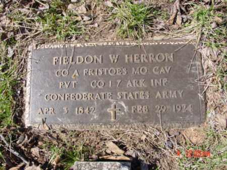 HERRON (VETERAN CSA), FIELDON WASHINGTON - Izard County, Arkansas | FIELDON WASHINGTON HERRON (VETERAN CSA) - Arkansas Gravestone Photos