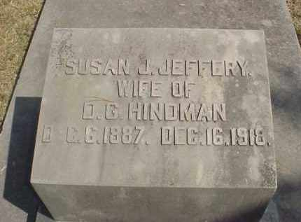 JEFFERY HINDMAN, SUSAN J. - Izard County, Arkansas | SUSAN J. JEFFERY HINDMAN - Arkansas Gravestone Photos