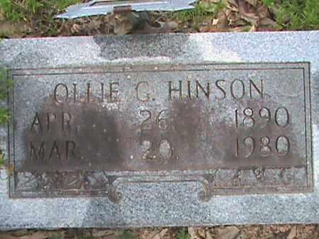 HINSON, OLLIE GUSTAVA - Izard County, Arkansas   OLLIE GUSTAVA HINSON - Arkansas Gravestone Photos