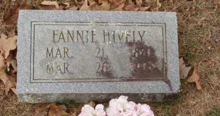 HIVELY, FANNIE - Izard County, Arkansas | FANNIE HIVELY - Arkansas Gravestone Photos