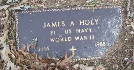 HOLY (VETERAN WWII), JAMES A - Izard County, Arkansas   JAMES A HOLY (VETERAN WWII) - Arkansas Gravestone Photos