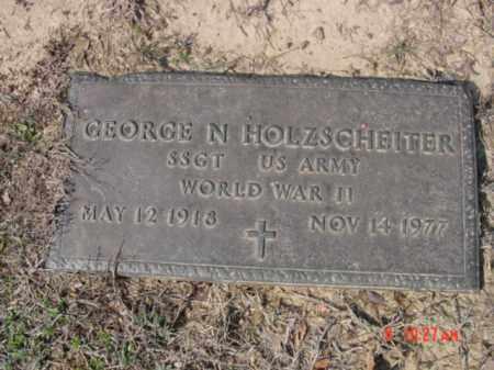 HOLZSCHEITER  (VETERAN WWII), GEORGE N - Izard County, Arkansas   GEORGE N HOLZSCHEITER  (VETERAN WWII) - Arkansas Gravestone Photos