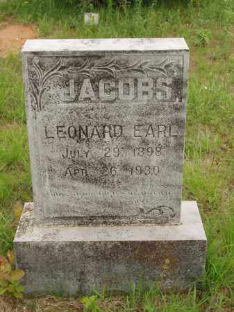 JACOBS, LEONARD EARL - Izard County, Arkansas | LEONARD EARL JACOBS - Arkansas Gravestone Photos