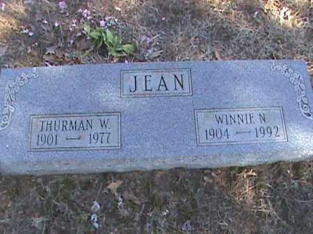 JEAN, THURMAN W. - Izard County, Arkansas | THURMAN W. JEAN - Arkansas Gravestone Photos