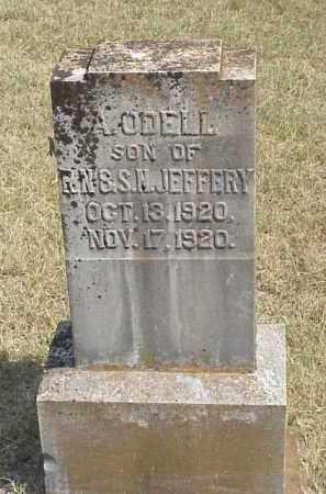 JEFFERY, A. ODELL - Izard County, Arkansas   A. ODELL JEFFERY - Arkansas Gravestone Photos