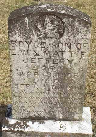 JEFFERY, BOYCE - Izard County, Arkansas | BOYCE JEFFERY - Arkansas Gravestone Photos