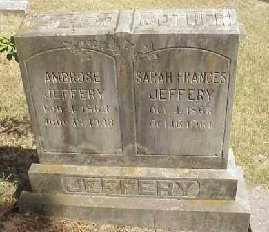 "DAVIS JEFFERY, SARAH FRANCES ""FANNIE"" - Izard County, Arkansas   SARAH FRANCES ""FANNIE"" DAVIS JEFFERY - Arkansas Gravestone Photos"