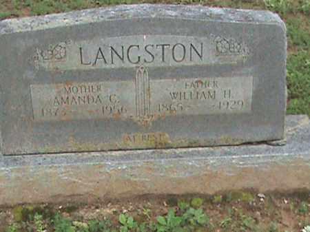 LANGSTON, WILLIAM H. - Izard County, Arkansas | WILLIAM H. LANGSTON - Arkansas Gravestone Photos