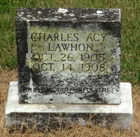 LAWHON, CHARLES ACY - Izard County, Arkansas   CHARLES ACY LAWHON - Arkansas Gravestone Photos