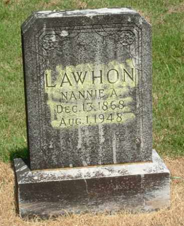 HIGHTOWER LAWHON, NANCY 'NANNIE' ANN - Izard County, Arkansas   NANCY 'NANNIE' ANN HIGHTOWER LAWHON - Arkansas Gravestone Photos