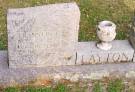 LAYTON, FRANKLIN LEVI - Izard County, Arkansas | FRANKLIN LEVI LAYTON - Arkansas Gravestone Photos