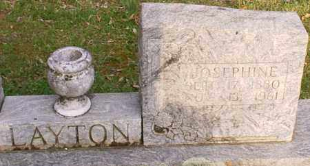 LAYTON, JOSEPHINE - Izard County, Arkansas | JOSEPHINE LAYTON - Arkansas Gravestone Photos