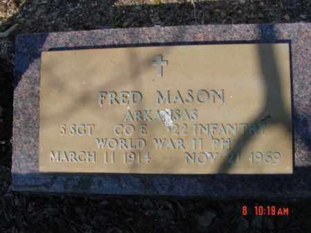 MASON  (VETERAN WWII), FRED - Izard County, Arkansas   FRED MASON  (VETERAN WWII) - Arkansas Gravestone Photos