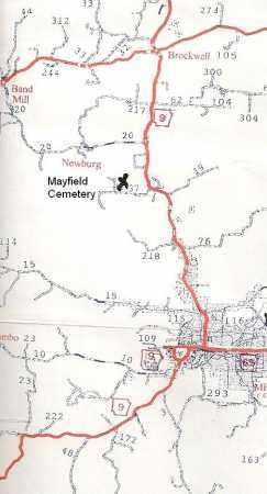 *, MAYFIELD CEMETERY MAP - Izard County, Arkansas | MAYFIELD CEMETERY MAP * - Arkansas Gravestone Photos