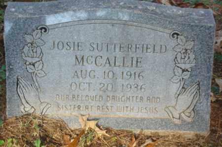 SUTTERFIELD MCCALLIE, JOSIE - Izard County, Arkansas | JOSIE SUTTERFIELD MCCALLIE - Arkansas Gravestone Photos