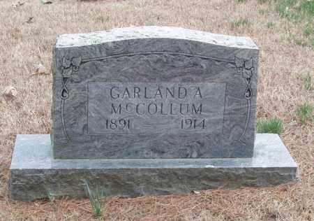 MC COLLUM, GARLAND A - Izard County, Arkansas | GARLAND A MC COLLUM - Arkansas Gravestone Photos