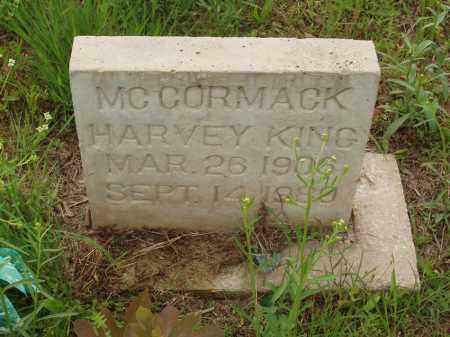 MC CORMACK, HARVEY KING - Izard County, Arkansas | HARVEY KING MC CORMACK - Arkansas Gravestone Photos