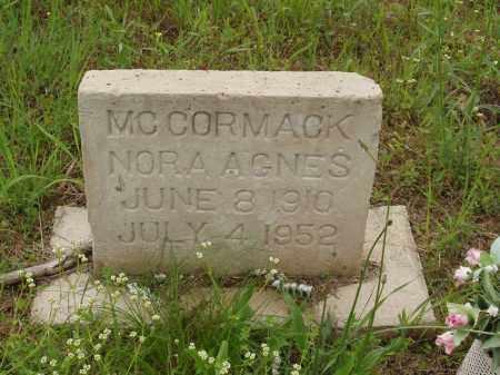 MC CORMACK, NORA AGNES - Izard County, Arkansas | NORA AGNES MC CORMACK - Arkansas Gravestone Photos