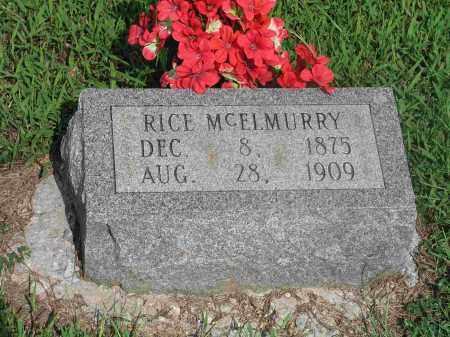 MC ELMURRY, RICE - Izard County, Arkansas | RICE MC ELMURRY - Arkansas Gravestone Photos