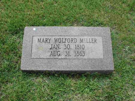 WOLFORD MILLER, MARY - Izard County, Arkansas | MARY WOLFORD MILLER - Arkansas Gravestone Photos