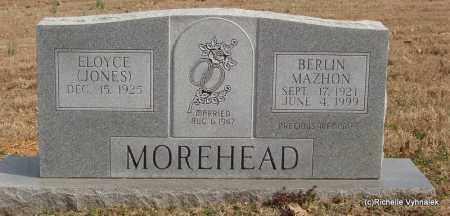 MOREHEAD, BERLIN MAZHON - Izard County, Arkansas | BERLIN MAZHON MOREHEAD - Arkansas Gravestone Photos