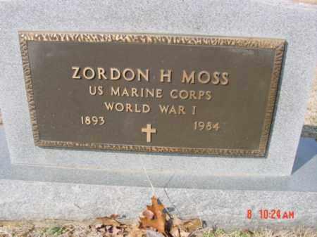 MOSS  (VETERAN WWI), ZORDON H - Izard County, Arkansas | ZORDON H MOSS  (VETERAN WWI) - Arkansas Gravestone Photos