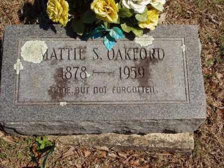 OAKFORD, MATTIE S - Izard County, Arkansas | MATTIE S OAKFORD - Arkansas Gravestone Photos