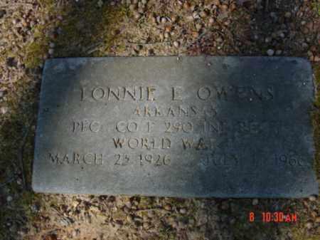 OWENS  (VETERAN WWII), LONNIE E - Izard County, Arkansas | LONNIE E OWENS  (VETERAN WWII) - Arkansas Gravestone Photos