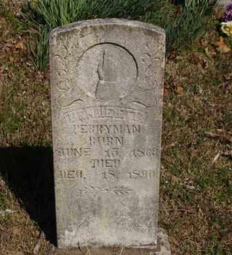 WAYLAND PERRYMAN, HENRIETTA - Izard County, Arkansas | HENRIETTA WAYLAND PERRYMAN - Arkansas Gravestone Photos