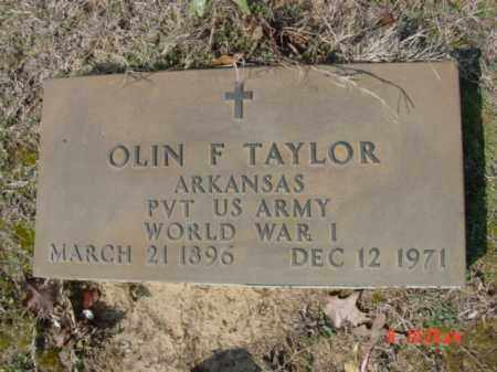 TAYLOR  (VETERAN WWI), OLIN F - Izard County, Arkansas | OLIN F TAYLOR  (VETERAN WWI) - Arkansas Gravestone Photos