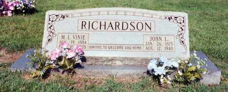 RICHARDSON, JOHN L - Izard County, Arkansas   JOHN L RICHARDSON - Arkansas Gravestone Photos