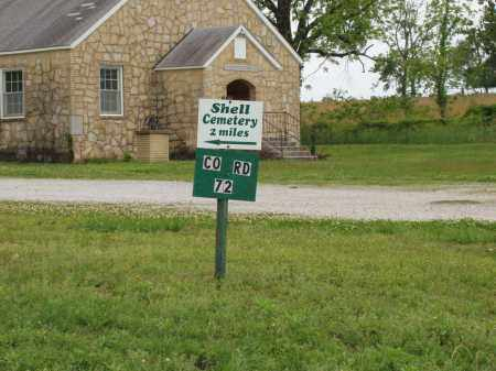 *, SHELL CEMETERY SIGN IN SAGE - Izard County, Arkansas | SHELL CEMETERY SIGN IN SAGE * - Arkansas Gravestone Photos