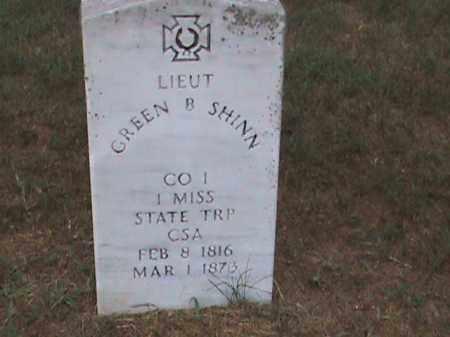 SHINN (VETERAN CSA), GREEN B - Izard County, Arkansas | GREEN B SHINN (VETERAN CSA) - Arkansas Gravestone Photos