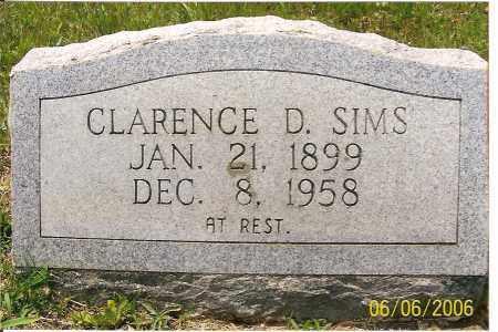 SIMS, CLARENCE  D. - Izard County, Arkansas | CLARENCE  D. SIMS - Arkansas Gravestone Photos