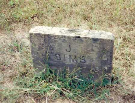 SIMS, J. - Izard County, Arkansas   J. SIMS - Arkansas Gravestone Photos