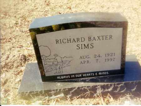 SIMS, RICHARD BAXTER - Izard County, Arkansas | RICHARD BAXTER SIMS - Arkansas Gravestone Photos