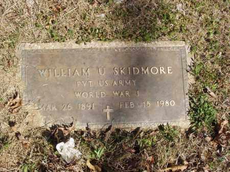SKIDMORE  (VETERAN WWI), WILLIAM U - Izard County, Arkansas | WILLIAM U SKIDMORE  (VETERAN WWI) - Arkansas Gravestone Photos