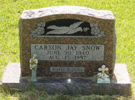 SNOW, CARSON JAY - Izard County, Arkansas   CARSON JAY SNOW - Arkansas Gravestone Photos