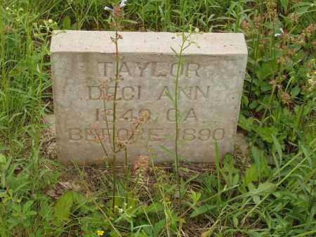 TAYLOR, DECI ANN - Izard County, Arkansas   DECI ANN TAYLOR - Arkansas Gravestone Photos