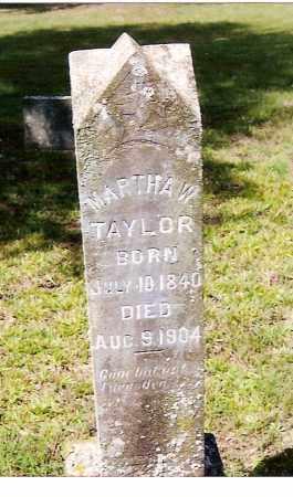 TAYLOR, MARTHA W. - Izard County, Arkansas   MARTHA W. TAYLOR - Arkansas Gravestone Photos