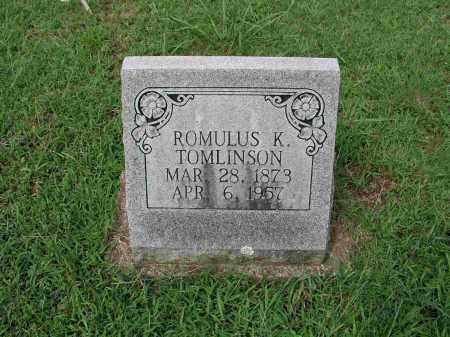 TOMLINSON, ROMULUS K. - Izard County, Arkansas | ROMULUS K. TOMLINSON - Arkansas Gravestone Photos