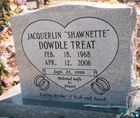 DOWDLE TREAT, JACQUERLIN - Izard County, Arkansas | JACQUERLIN DOWDLE TREAT - Arkansas Gravestone Photos