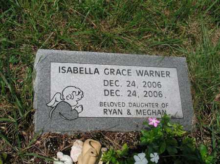 WARNER, ISABELLA GRACE - Izard County, Arkansas   ISABELLA GRACE WARNER - Arkansas Gravestone Photos