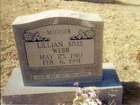 SIMS WEBB, LILLIAN BEATRICE - Izard County, Arkansas   LILLIAN BEATRICE SIMS WEBB - Arkansas Gravestone Photos
