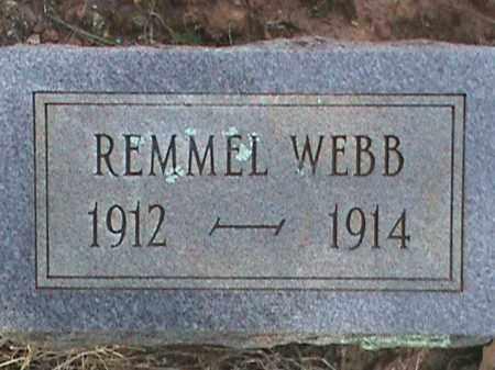 WEBB, REMMEL - Izard County, Arkansas   REMMEL WEBB - Arkansas Gravestone Photos